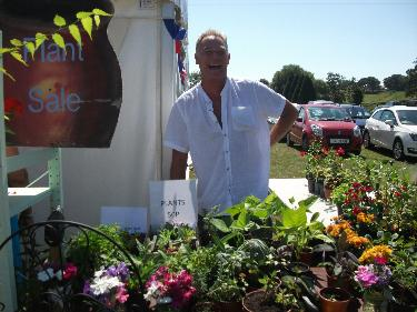 Summer Show - Dave on the plant stall