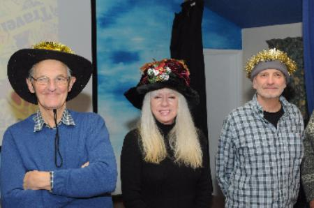 Tim, Lynda and Steve show off their hats