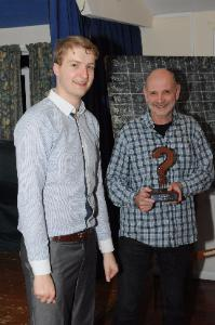 Steve collects the Wot trophy