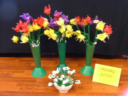 Creative flowers from the Primary School