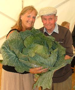 Mary with Sid and his enormous cabbage!
