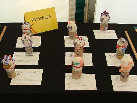 Egg-celent exhibits from the Brownies